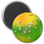 butterfly green-yellow fridge magnet