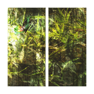 Butterfly Greenery Canvas Print