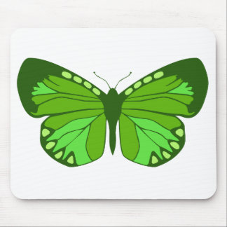 Butterfly Greens Mouse Pad
