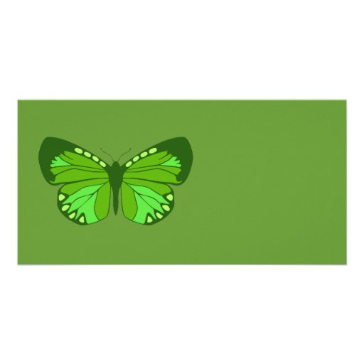Butterfly Greens Photo Card Template