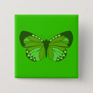 Butterfly Greens Pinback Button