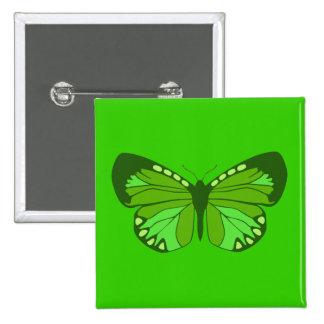 Butterfly Greens Pinback Button