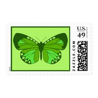 Butterfly Greens Postage Stamp
