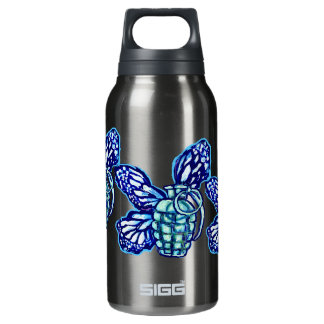Butterfly Grenade, (colors) 10 Oz Insulated SIGG Thermos Water Bottle