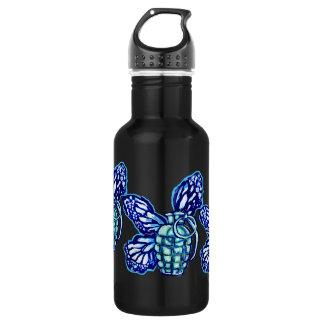 Butterfly Grenade, (colors) 18oz Water Bottle