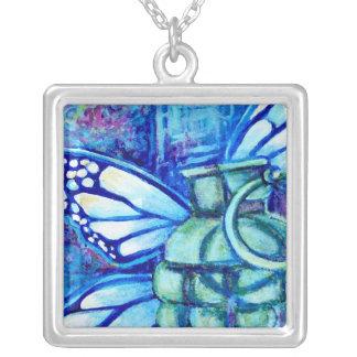 Butterfly Grenade, Fine Art Necklace