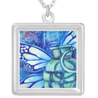 Butterfly Grenade, Fine Art Pendant Necklace