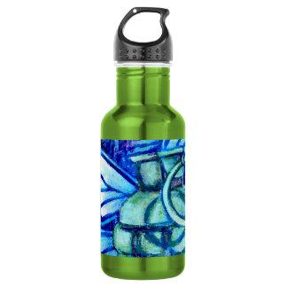 Butterfly Grenade, FineArt WaterBottle, moreColors 18oz Water Bottle