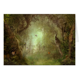 butterfly grove greeting card