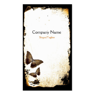Butterfly Grunge Double-Sided Standard Business Cards (Pack Of 100)