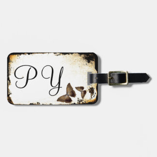 Butterfly Grunge Luggage Tag