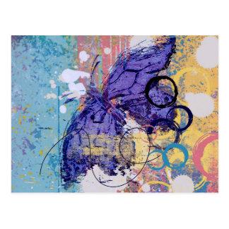 Butterfly Grunge Postcard