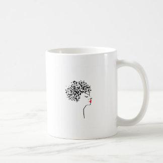 Butterfly hair coffee mug