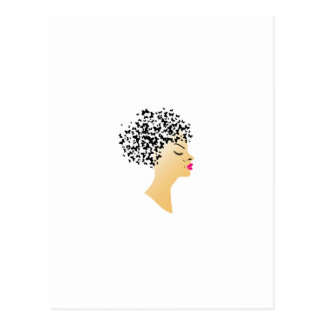 Butterfly hair postcard