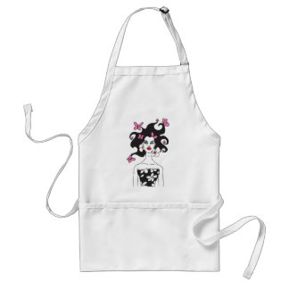 Butterfly Hair Pretty Girl Cartoon Adult Apron