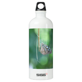 Butterfly Hanging From A Twig Aluminum Water Bottle