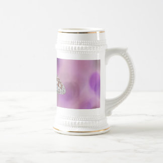 Butterfly Hanging From A Twig Beer Stein
