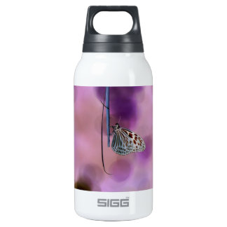 Butterfly Hanging From A Twig Insulated Water Bottle