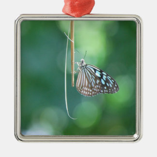 Butterfly Hanging From A Twig Metal Ornament