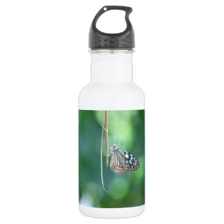 Butterfly Hanging From A Twig Stainless Steel Water Bottle