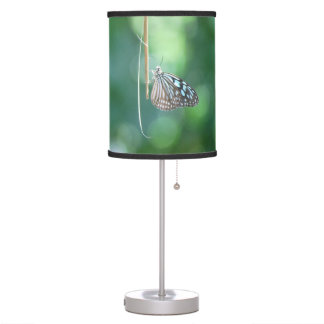 Butterfly Hanging From A Twig Table Lamp