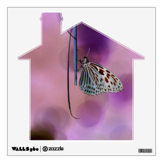 Butterfly Hanging From A Twig Wall Sticker