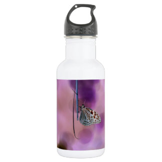 Butterfly Hanging From A Twig Water Bottle