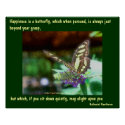 Butterfly Happiness Affirmations Poster Print print