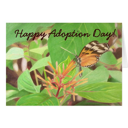 butterfly, Happy Adoption Day! Greeting Card