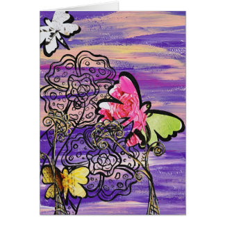 Butterfly Hats greeting card