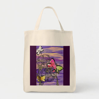 Butterfly Hats Grocery tote Bag