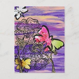 Butterfly Hats postcard postcard