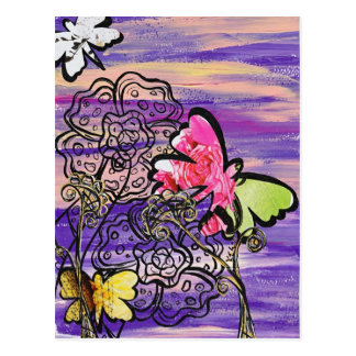 Butterfly Hats postcard