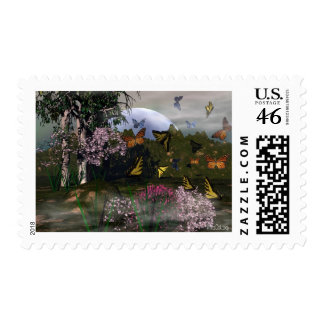 Butterfly Haven Postage Stamps