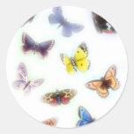 Butterfly Haze Round Sticker