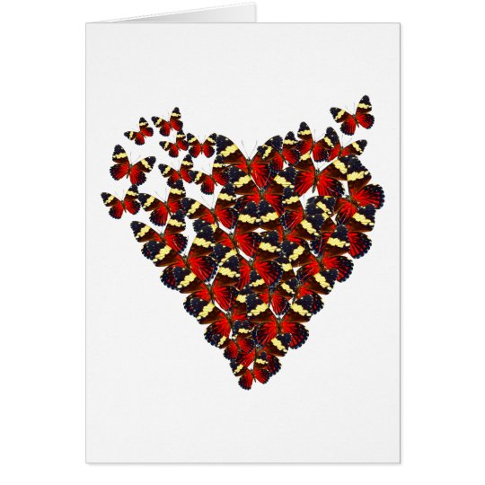 Butterfly heart card