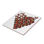 Butterfly heart ceramic tiles