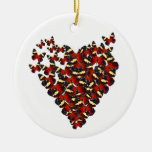 Butterfly heart christmas ornaments