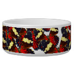 Butterfly heart dog food bowls