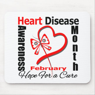 Butterfly Heart - Heart Disease Awareness Month Mouse Pad