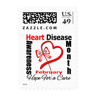 Butterfly Heart - Heart Disease Awareness Month Postage Stamp