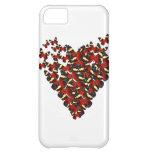Butterfly heart iPhone 5C case