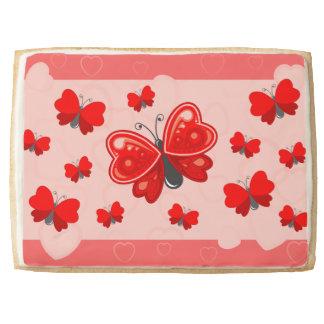 butterfly heart jumbo shortbread cookie