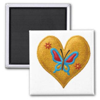 BUTTERFLY HEART Locker Magnets, Refrigerator Magnet