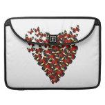 Butterfly heart MacBook pro sleeves