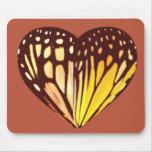 Butterfly Heart Mouse Mats