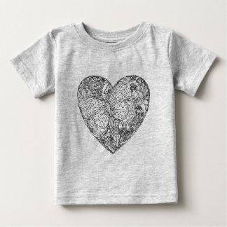 Butterfly Heart Pattern Baby T-Shirt
