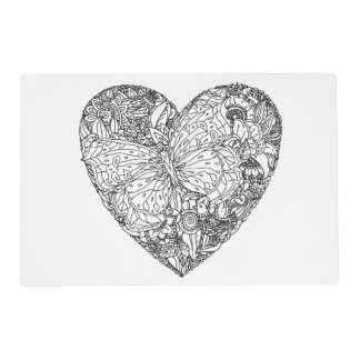 Butterfly Heart Pattern Placemat