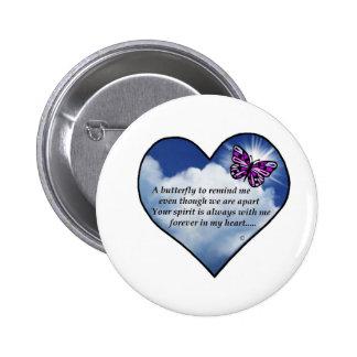 Butterfly Heart Poem Button