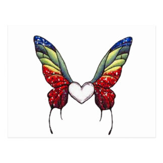 Butterfly Heart Post Cards